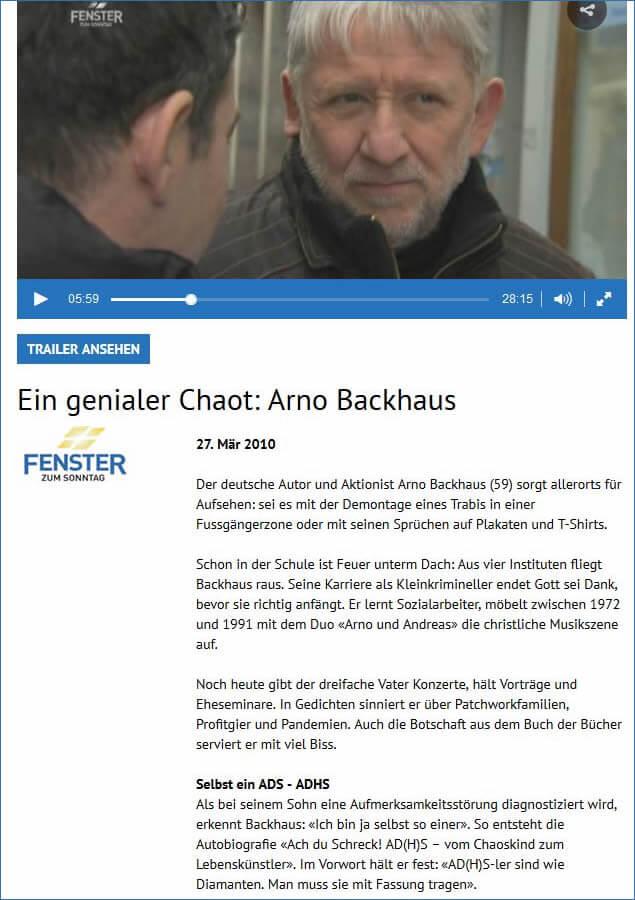 Ein genialer Chaot: Arno Backhaus