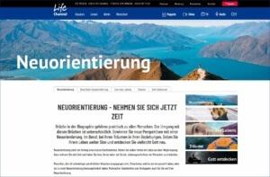 Lifechannel.ch: Neuorientierung, Quereinsteigen und wie es andere erlebt haben.
