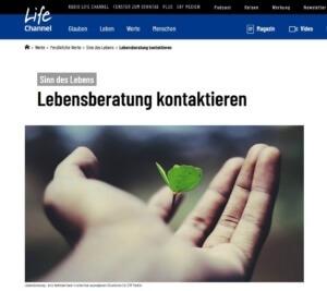 Christliche Lebensberatung - Liste mit Fachstellen von ERF Medien Schweiz