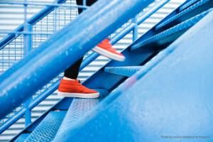 Bewegung heute: Treppen steigen