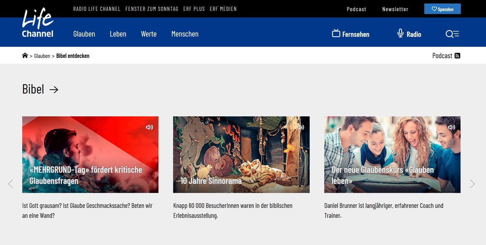 Radio Life Channel: Die Bibel lesen, entdecken und verstehen