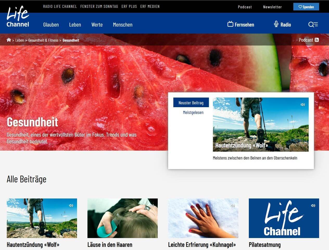 Radio Life Channel: Gesundheitstipps Serie