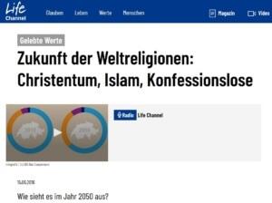 Zukunft der Weltreligionen, Christentum, Islam, Konfessionslose