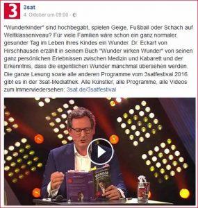 Eckard von Hirschhausen zum Thema Wunderkinder