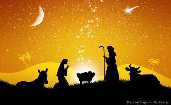 Die Weihnachtsgeschichte - still und heimlich kommt ein König zur Welt ...