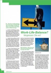 «Work Life Balance? Vergessen Sie es!» PDF